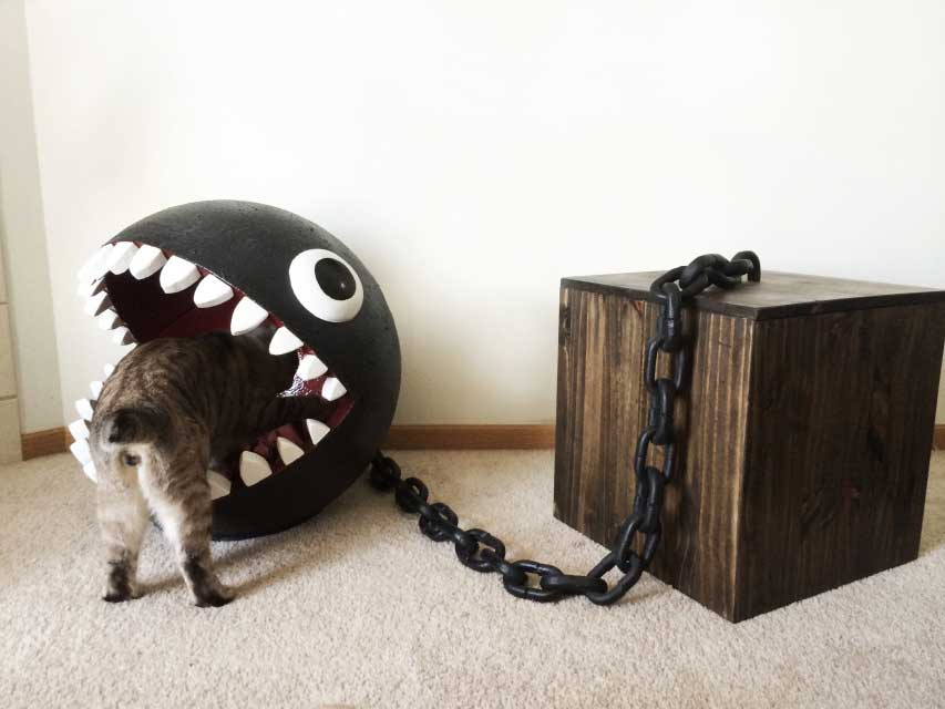 Chain Chomp Cat Bed ⋆ Catastrophic Creations